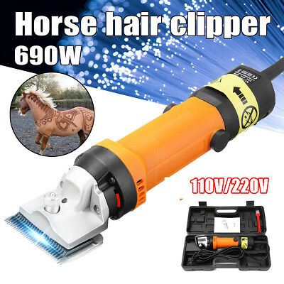 Professional Electric 690W Animal Clipper Heavy Duty Horse Dog Pet Shearing