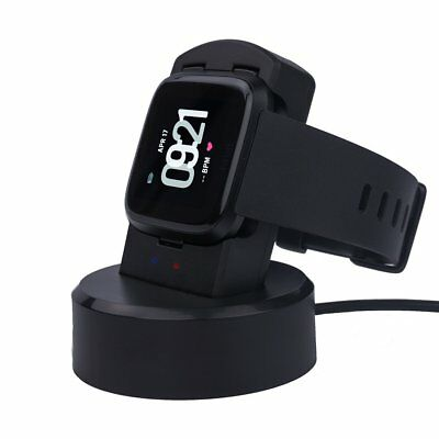 Replace Charging Cable LED light Charger Watch Stand Dock Cradle Fr Fitbit Versa