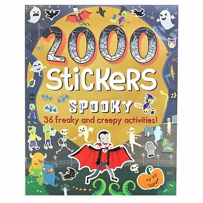 Kids Halloween Theme Activity Book With 2000 Stickers Activities Puzzles Drawing