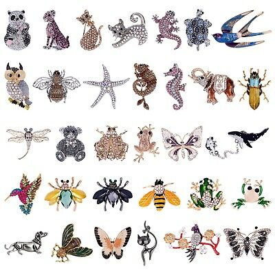 Femmes Mignon Cristal Strass Papillon Animal Bouquet Broche Broche Bijoux Décor