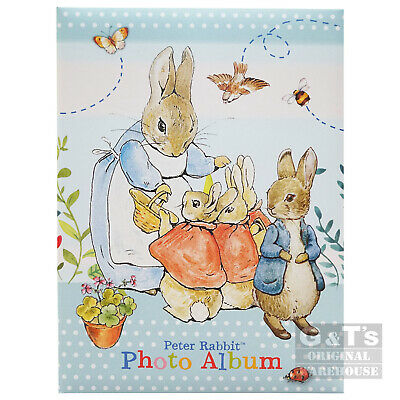 Beatrix Potter Peter Rabbit 4 x 6 Inch Photo Album for Baby Christening Photos