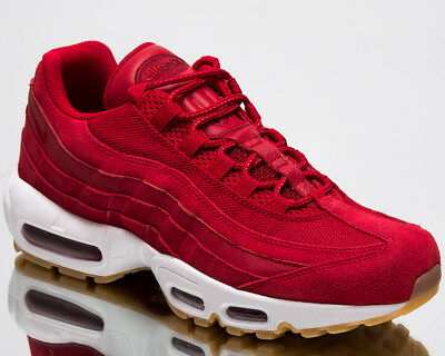 best cheap 36ab3 022fb NIKE AIR MAX 95 Premium Men New Shoes Gym Red Team Red White Sneakers  538416-602