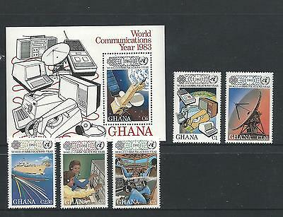 1983 World Communications Year set of 5 Stamps & Mini Sheet complete MUH/MNH
