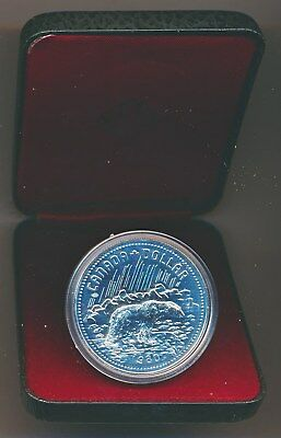 Canada: 1980 $1 Silver Polar Bear Proof-like in Mint Case