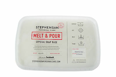 Goats Milk Melt and Pour Soap Base 1kg-12kg Stephensons Cosmetic Making