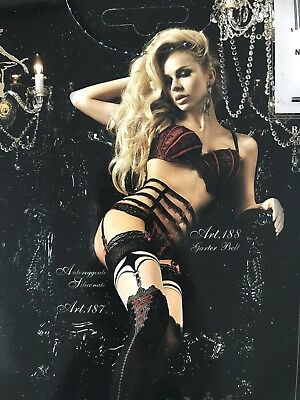 Suspender Belt And Stockings Ballerina Black And Red
