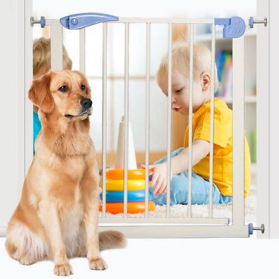 1-Wide Extending Safety Steel Gate for Stairs Baby Kids Toddlers Dogs Protection
