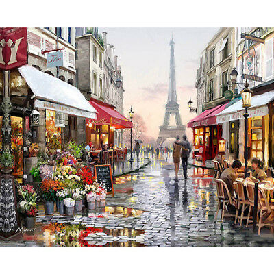 DIY Oil Painting Pain By Numbers Kit on Canvas 40*50 Art Pictures- Paris