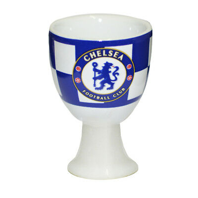 Chelsea FC Egg Cup - Gift Christmas Birthday Valentines Boys Girls - Checked