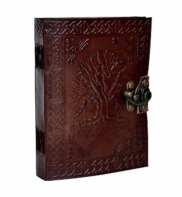 Leather Tree Journal Life Diary Book Blank Embossed Handmade Notebook
