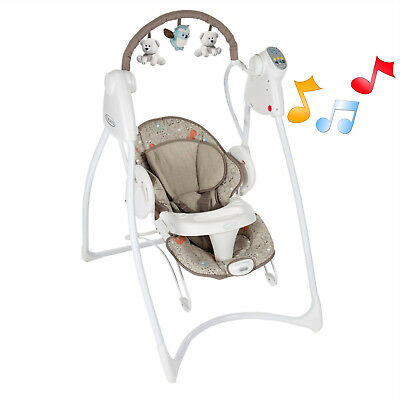 New  Graco Woodland Walk Swing N Bounce 2 In 1 Musical Baby Swing From Birth