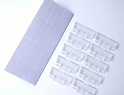 50 Suspension File White Inserts & Clear Plastic Tabs Filing Index Q-Connect