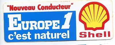 Autocollant Vintage Sticker Europe 1 Shell voiture ancienne tuning collection