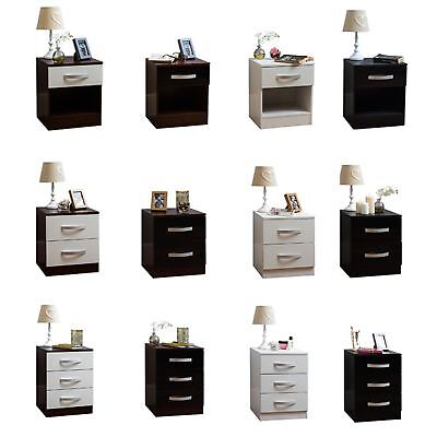 Hulio Bedside Cabinet 1 2 3 Chest Of Drawers Bedroom Table Furniture High Gloss