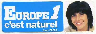 Autocollant Vintage Sticker Europe 1 voiture ancienne Anne PEREZ collection