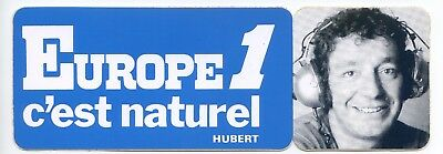 Autocollant Vintage Sticker Europe 1 voiture ancienne HUBERT collection