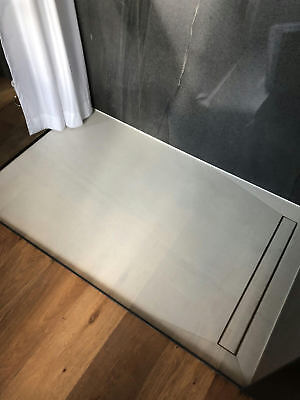 Wet Room SHOWER TRAY PROFESSIONAL 4S with VIEGA Trap 1100 x 1100
