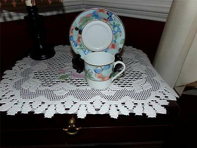 "Rare Haviland Limoges France Demi Cup And Saucer Set ""romantique """