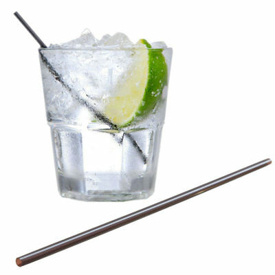 Finishing Touches Party store 50 x Black sip straws perfect for your Gin &Tonic