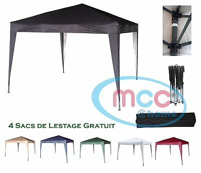 Mcc@home 3x3m Black Pop-up Gazebo Waterproof Outdoor Garden Marquee Canopy NS