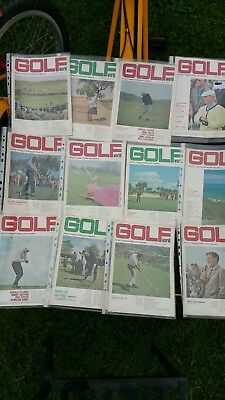 12 Golf World Magazines 1966  Complete Year 12 Rare  Issues V.good Condition