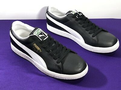 quality design 1db25 90324 PUMA CLYDE LEATHER FS Classic Black White Sneaker Size 13