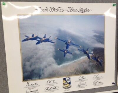 """2010 US NAVY BLUE ANGELS """"Big Sir"""" Cali CA 16 x 20 large LITHO Authentic poster"""