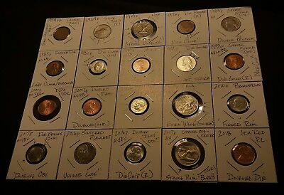 Lot #1 Twenty(20) MINOR Error/Defect U. S. coins..See pictures!!