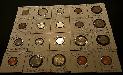 Lot #2 Twenty(20) MINOR Error/Defect U. S. coins..See pictures!!