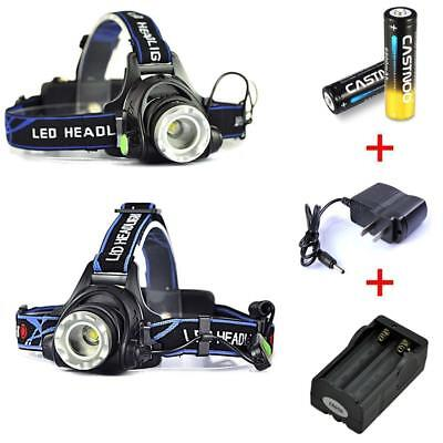 12000LM Zoomable XM-L T6 LED Lampe frontale rechargeable Lampe frontale 3Mode EP