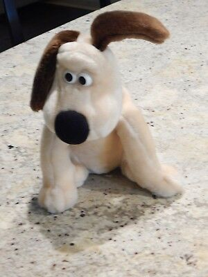 """Wallace and Gromit 10"""" GROMIT Plush Toy Aardman animation Dog"""