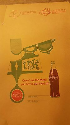 Vintage Original COCA-COLA SODA Illustrated Paper Book Cover 1967 Unused NOS