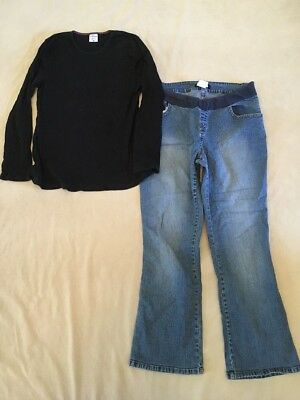 Large Motherhood Maternity And tM Style Jeans And Shirt Lot