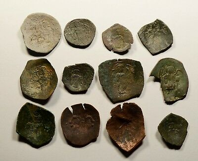 Lot Of 12 Ancient Byzantine Cup Coins - 015