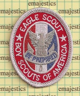 Bsa Boy Scout Eagle Rank Award Patch Badge Current Type 8B Since 1910 Back Mint