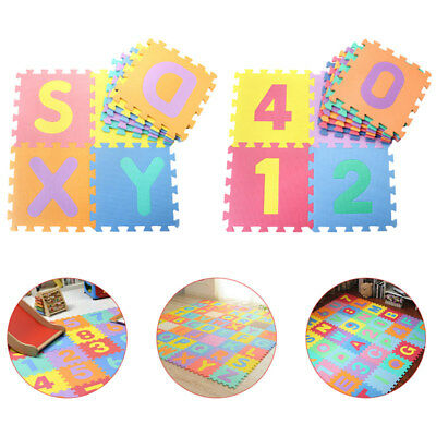 616b0ddf778 26Pcs Soft EVA Foam Numbers Puzzle Mat Pad Floor Baby Kids Toddler Game  Play Toy