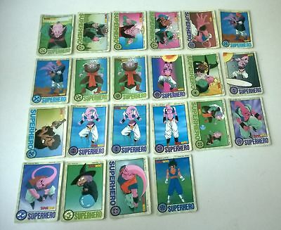 Lot de 22 cartes dragon ball z SUPERHERO (Super Hero) Regular