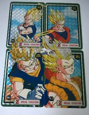 Lot de 4 cartes dragon ball z Spécial collection fresque