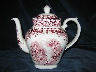 Kaffeekanne Royal Sphinx Maastricht Cambridge Old England Made in Holland in rot