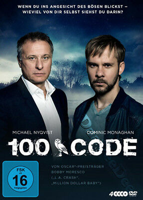 100 Code NEW PAL Series Cult 4-DVD Set Michael Nyqvist Dominic Monaghan Sweden
