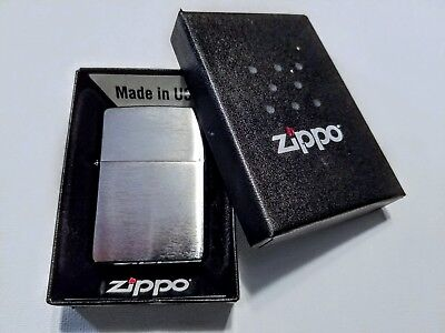 Zippo Brushed Chrome Lighter [Great for Engraving] Item 200 Blank Plain