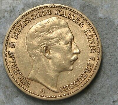 1891-A  Germany (German States) 20 Mark Gold Coin