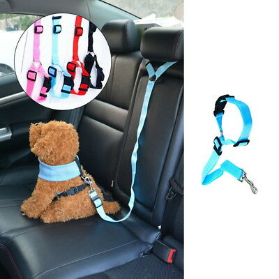 Dog Pets Car Safety Seat Lead Tie Collar Pet Seat Belt Strap