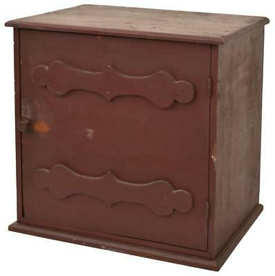 1 Dr. Printers Cabinet In Red Paint Lot 138