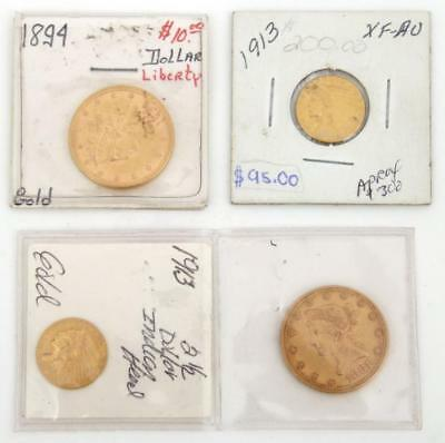 4 United States Gold Coins Lot 166
