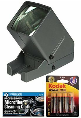 Medalight 35mm Desk Top Portable LED Negative and Slide Viewer + AA Batteries...