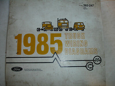 1985 ford truck f600 - f800 electrical wiring diagrams service schematic  manual