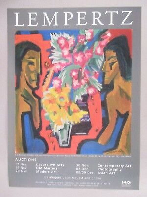 E.L. Kirchner Art Gallery Exhibit PRINT AD - 2006