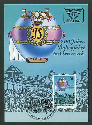 AUSTRIA MK AVIATION BALLON BALLOON MAXIMUMKARTE CARTE MAXIMUM CARD MC CM m210/3