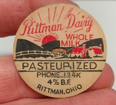 Rittman Dairy Rittman Ohio bottle milk cap